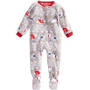 Family Pajamas Baby Polar Bear Footed Pajamas 18Mo